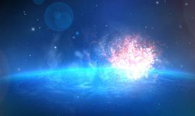蓝色宇宙星空科技logo片头