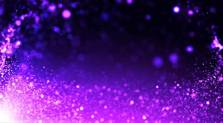 浪漫唯美紫色梦幻粒子背景视频