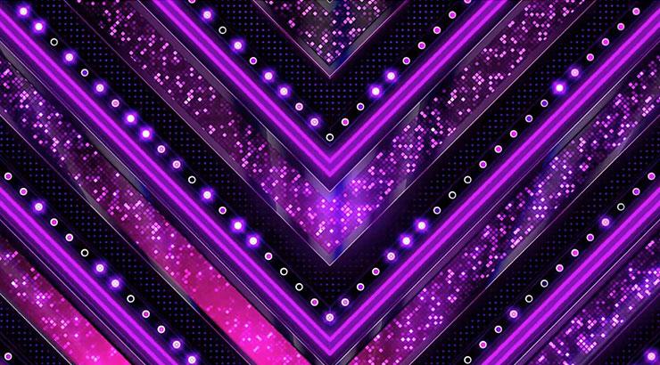 超炫紫色燈光舞臺背景
