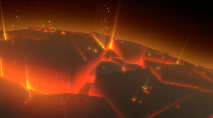 大氣龜裂燃燒星球開場
