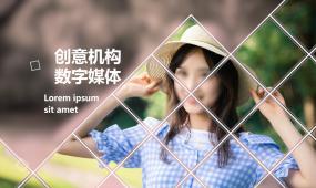 商務時尚動感菱形透視視頻