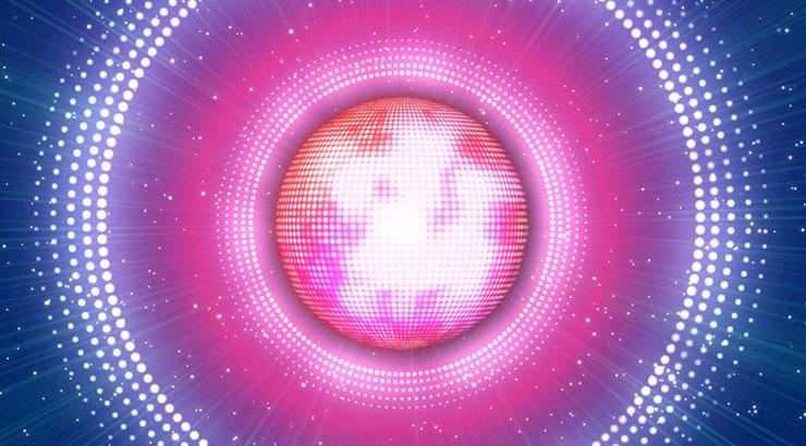 炫彩旋转球形灯光