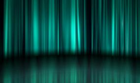 晚会婚礼演出舞台绿色幕布光影背景