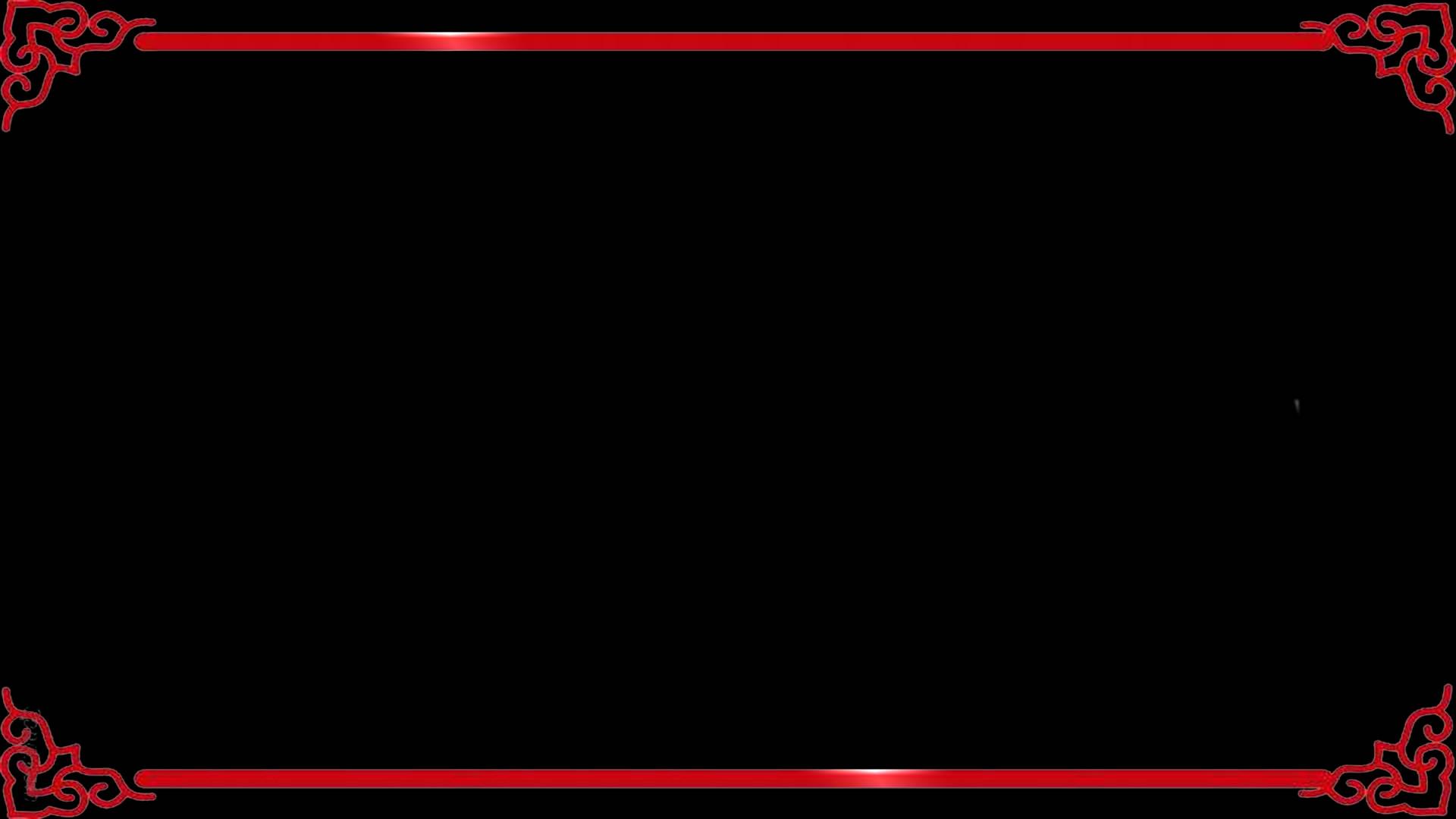 红色扫光特效装饰花边