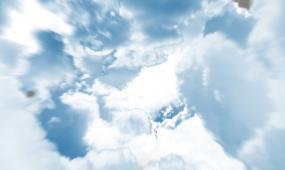 大气云层飞出视频