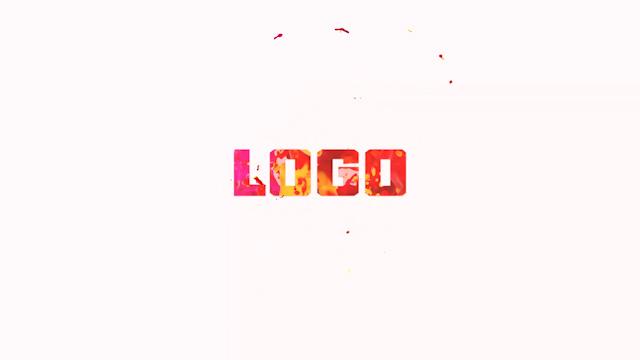 时尚颗粒感水墨LOGO展示