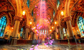 梦幻高端教堂婚礼背景