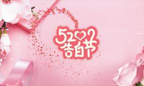 520浪漫爱情粉色告白时尚相册照片展示ae模板