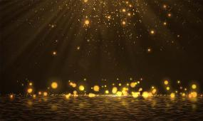 4K 金色粒子光线